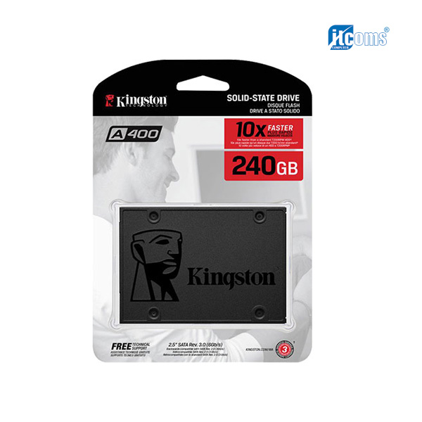 Ổ cứng SSD 240G Kingston A400 Sata III 6Gb/s TLC (SA400S37/240G)